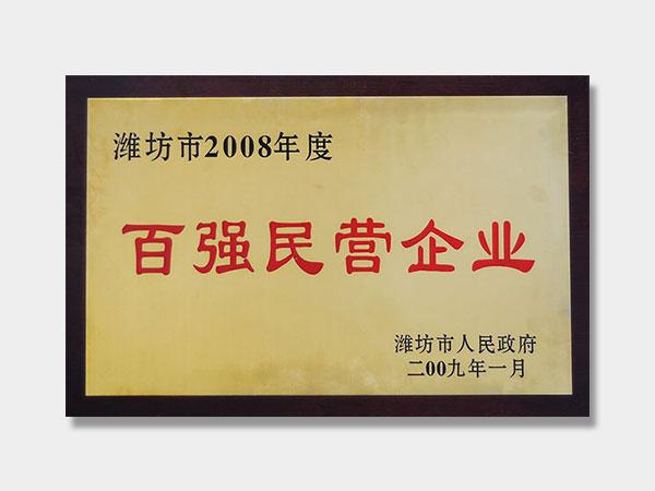2008年百强民营企业